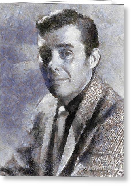 Dirk Bogarde By Sarah Kirk Greeting Card