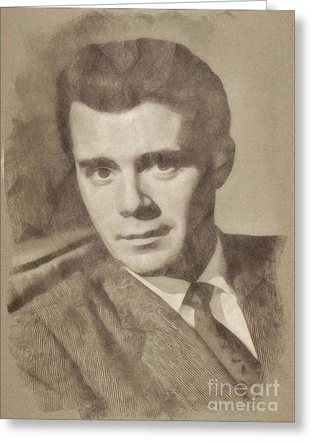 Dirk Bogarde, Vintage Actor By John Springfield Greeting Card
