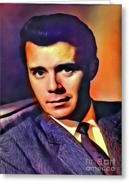 Dirk Bogarde, Vintage Actor. Digital Art By Mb Greeting Card