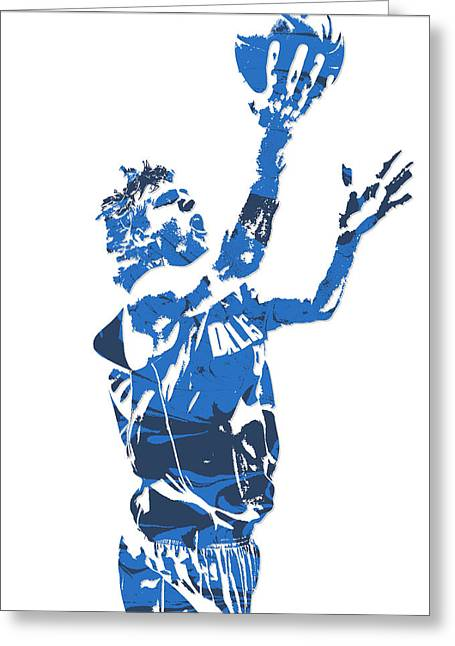 Dirk Nowitzki Dallas Mavericks  Pixel Art 5 Greeting Card