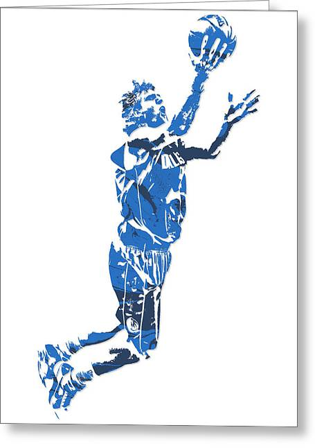 Dirk Nowitzki Dallas Mavericks  Pixel Art 7 Greeting Card