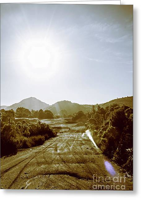 Dirt Roads Of Outback Tasmania Greeting Card