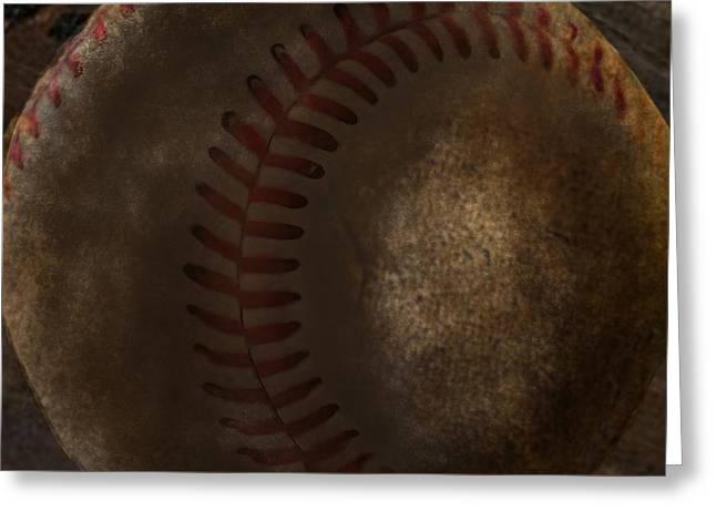 Dirty Baseball Greeting Card