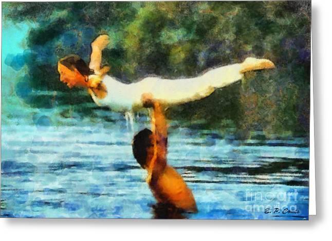 Chimney Rock North Carolina Greeting Cards - Dirty Dancing Greeting Card by Elizabeth Coats