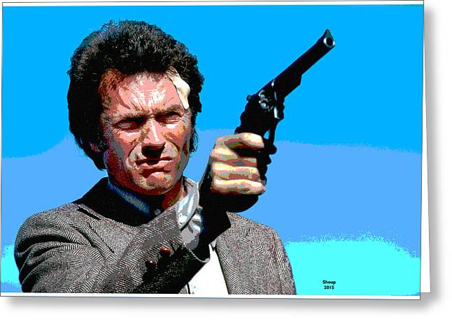Dirty Harry  Greeting Card by Charles Shoup