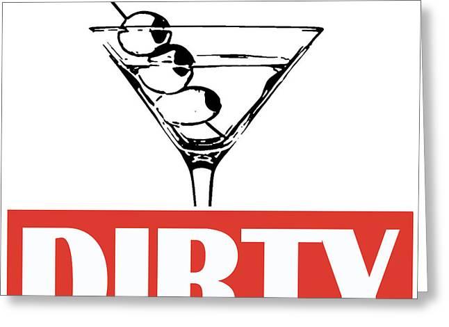 Dirty Martini Greeting Card by Edward Fielding