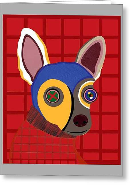 Dirty The Chihuahua  Greeting Card