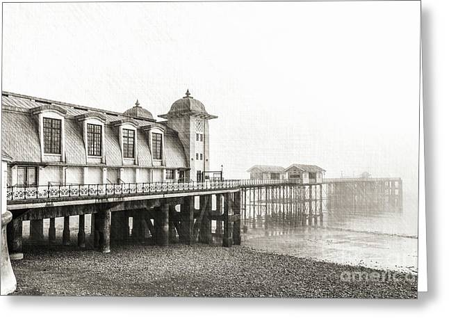 Disa Pier Ing Mono Greeting Card by Steve Purnell