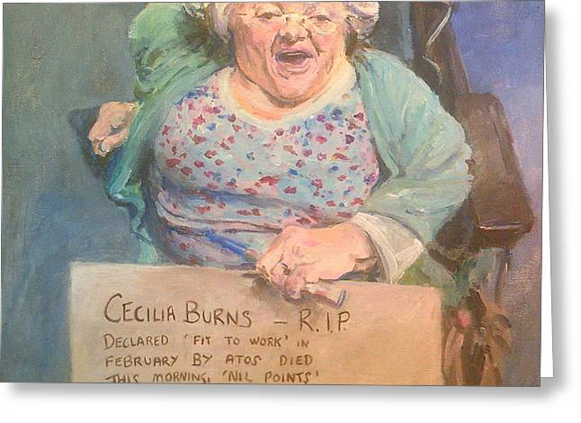 Disability Protester Remembers Cecilia Burns Greeting Card