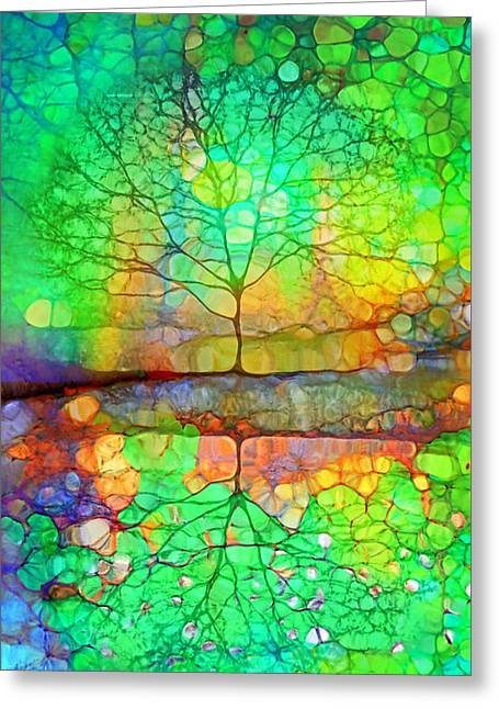 Disappearing In Colour Greeting Card by Tara Turner