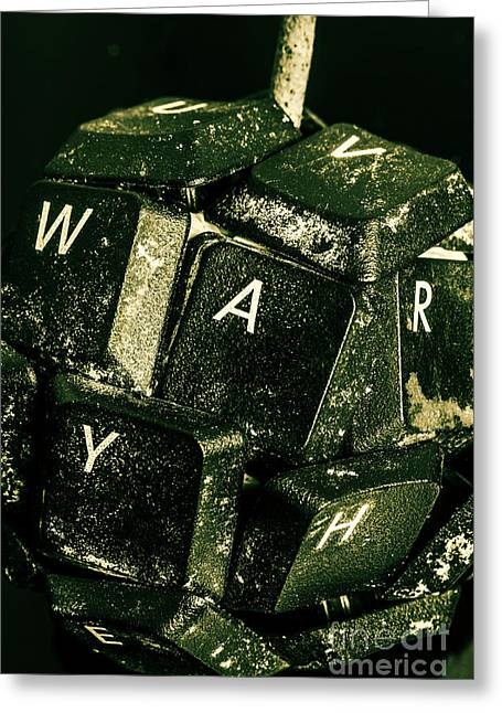 Disarming Of Weaponiised Words  Greeting Card