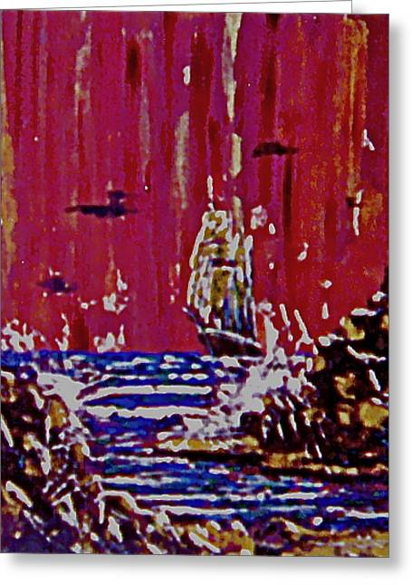 Disaster On The Reef Greeting Card by Frank Hunter