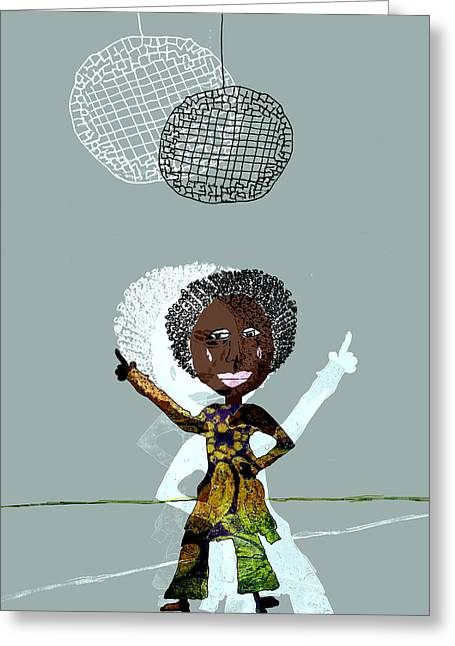 Disco Lady Greeting Card