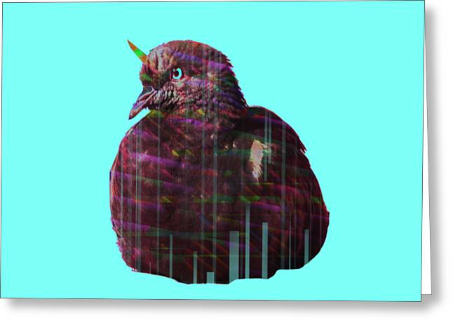 Disco Pigeon Unicorn Greeting Card