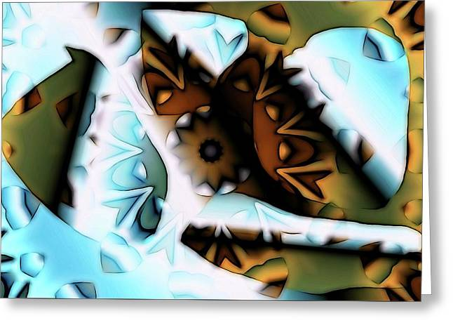Greeting Card featuring the digital art Discontinuous Permafrost by Ron Bissett