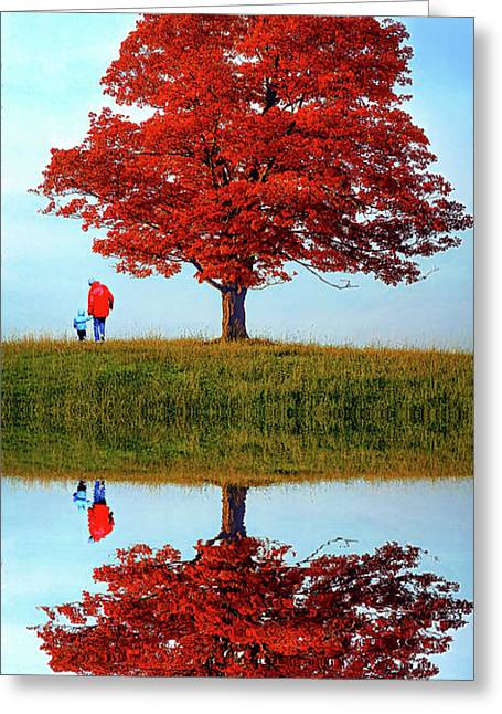 Discovering Autumn Reflection Photograph By Steve Harrington