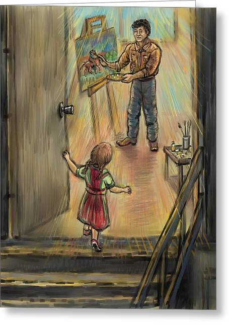 Discovering Daddy's World Greeting Card by Dawn Senior-Trask