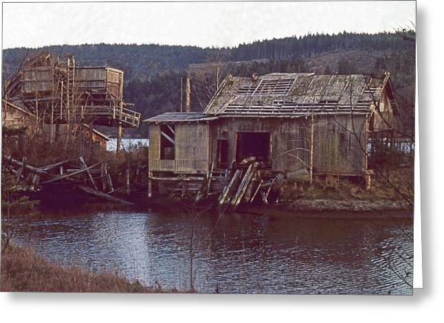 Greeting Card featuring the photograph Discovery Bay Mill by Laurie Stewart
