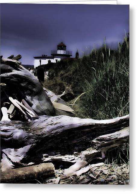 Discovery Park Lighthouse Greeting Card by David Patterson