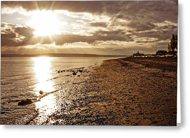 Discovery Park Sunset 4 Greeting Card by Pelo Blanco Photo