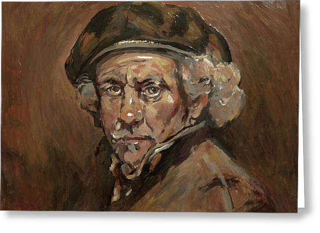 Disguised As Rembrandt Van Rijn Greeting Card