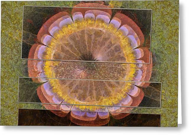 Disli Pipe Dream Flowers  Id 16163-141218-44391 Greeting Card by S Lurk