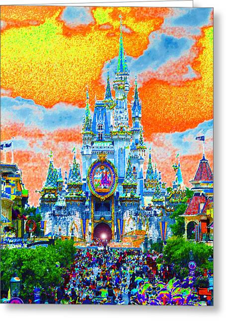 Best Sellers -  - Main Street Greeting Cards - Disney at Fifty Greeting Card by David Lee Thompson