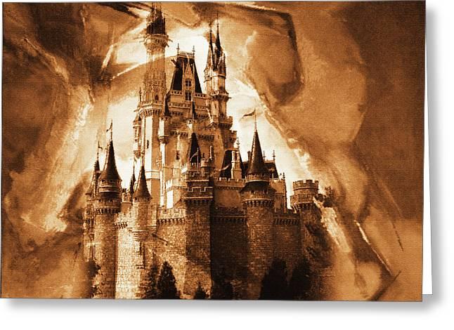 Disney Cinderella Castle   Greeting Card by Gull G