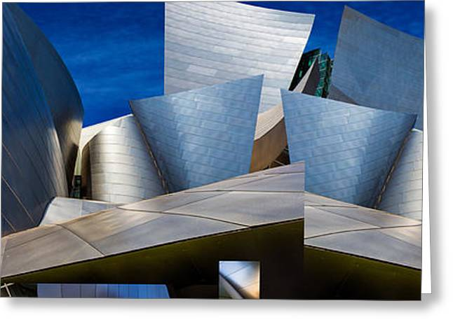Disney Concert Hall-montage (color Version) Greeting Card by Ron Jones