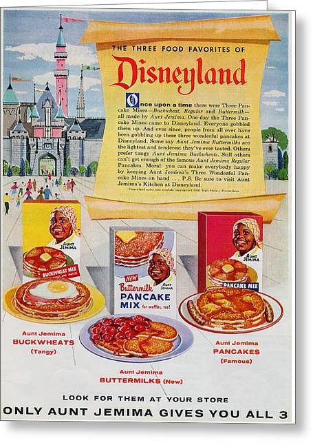Greeting Card featuring the digital art Disneyland And Aunt Jemima Pancakes  by ReInVintaged