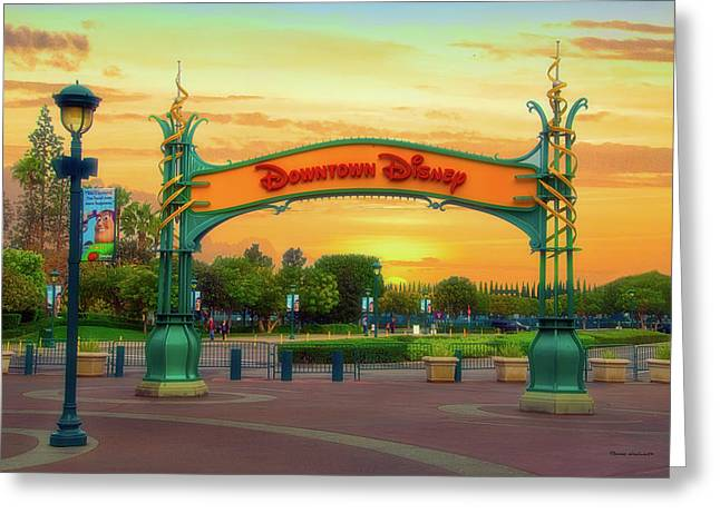 Disneyland Downtown Disney Signage 02 Greeting Card