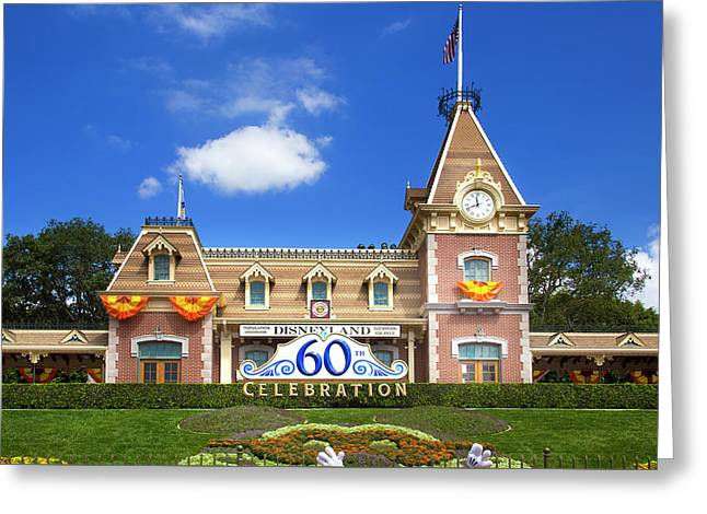 Greeting Card featuring the photograph Disneyland Entrance by Mark Andrew Thomas
