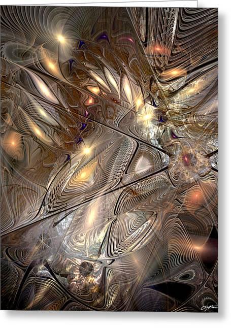 Disorderly Relativistic Interpretations Greeting Card by Casey Kotas
