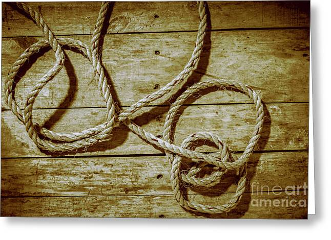 Dispatched Ropes And Voyages Greeting Card