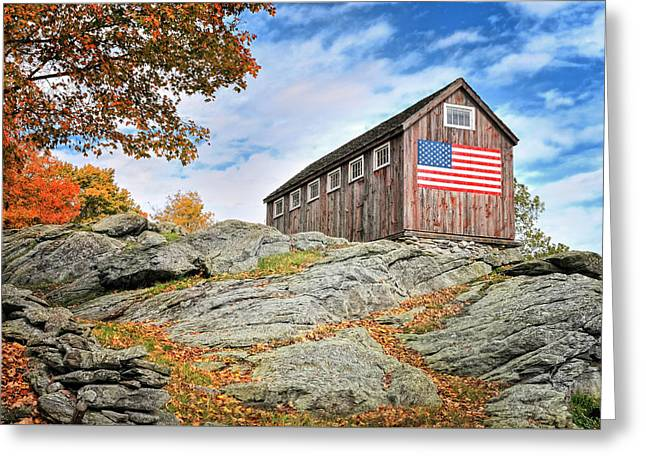 Display Of Colors - Roxbury Barn  Greeting Card by Thomas Schoeller
