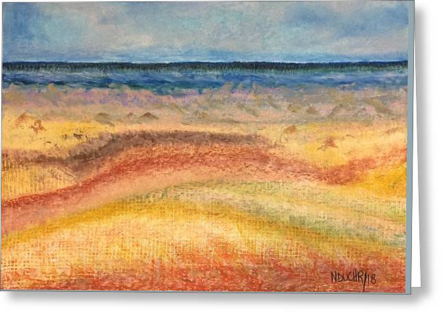 Greeting Card featuring the painting Distance by Norma Duch