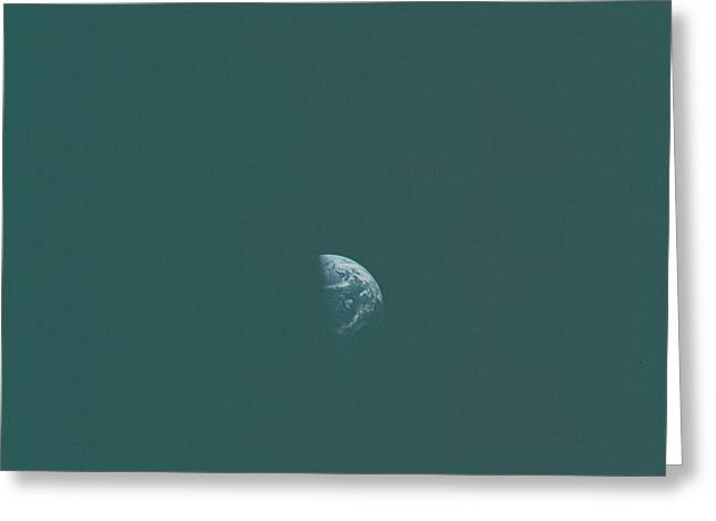 Distant Earth Greeting Card by Artistic Panda