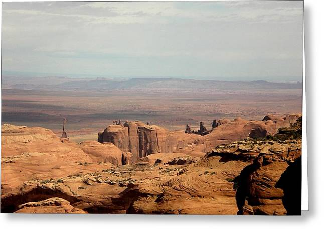 Greeting Card featuring the photograph Distant Mesa by Fred Wilson