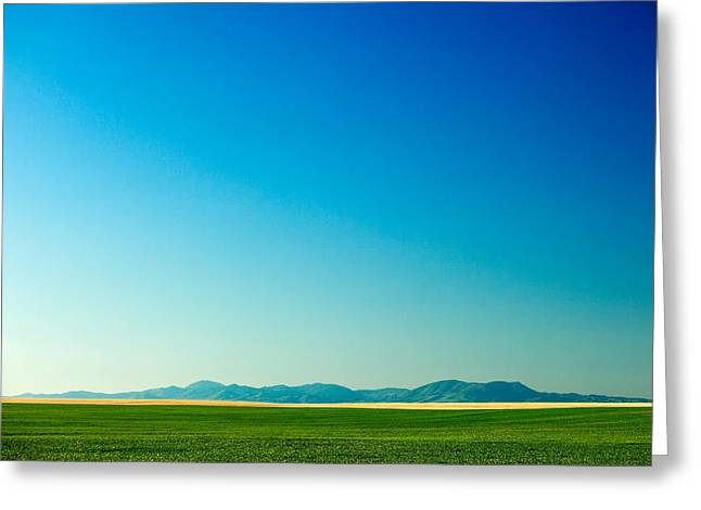 Distant Mountains Greeting Card by Todd Klassy
