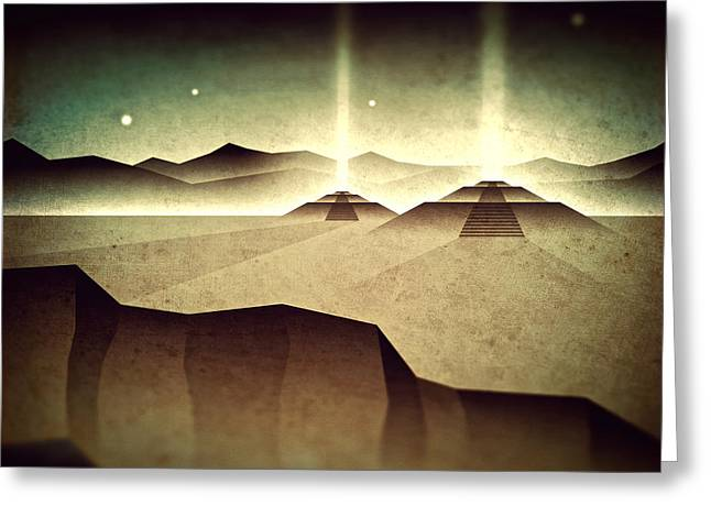 Distant Past Horizon Greeting Card