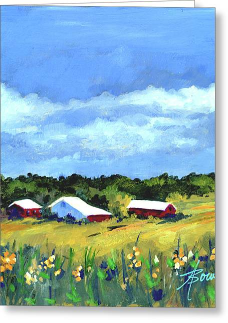 Distant Rain  Greeting Card