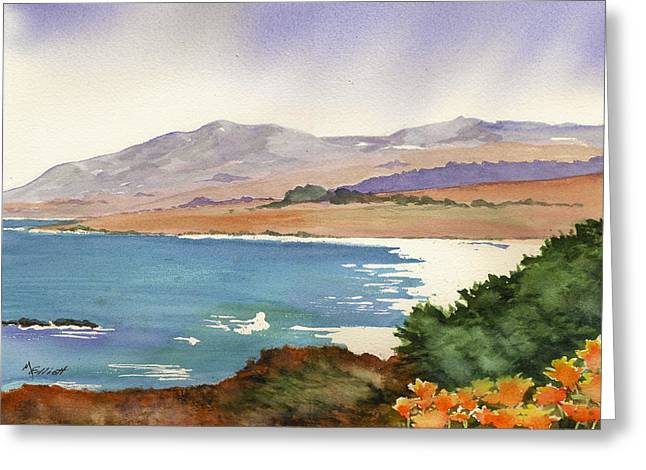 Distant Shore Greeting Card by Marsha Elliott