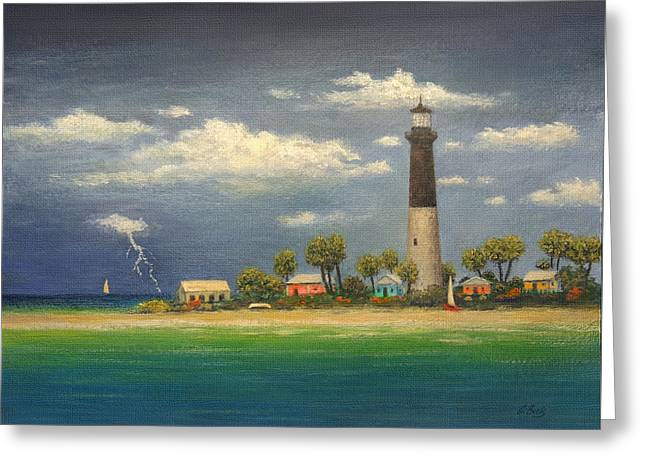 Distant Storm Greeting Card by Gordon Beck