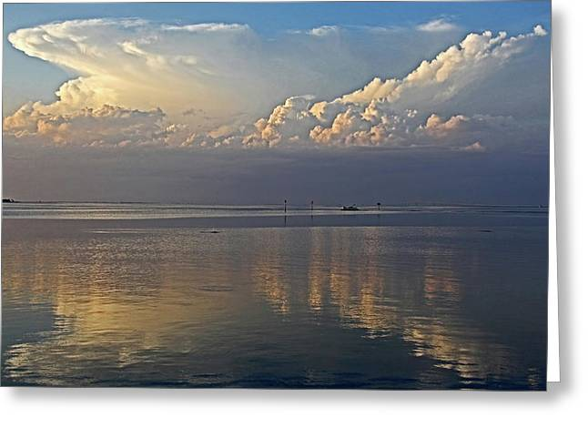 Distant Thunder Greeting Card by HH Photography of Florida