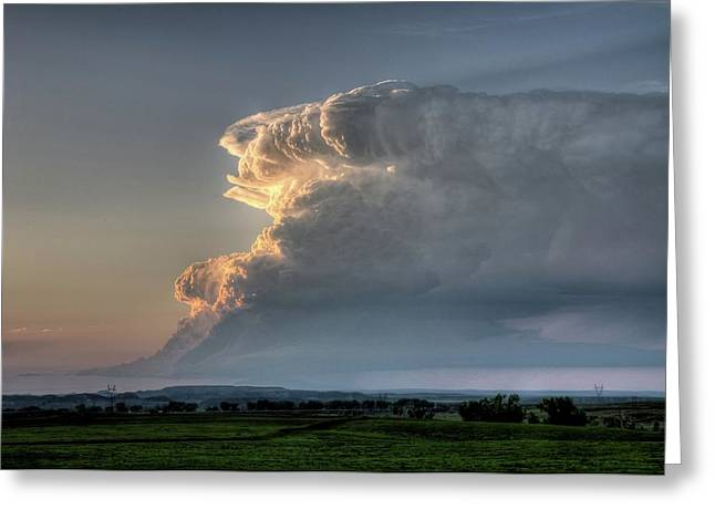 Distant Thunderstorm Greeting Card