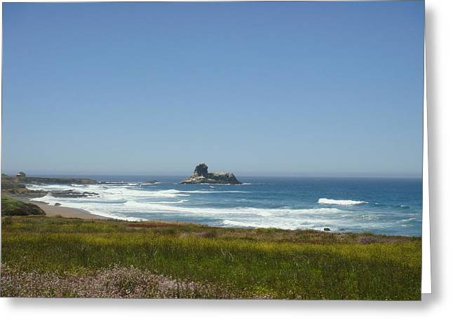 Cambria Digital Greeting Cards - Distant Waves Greeting Card by Melissa KarVal