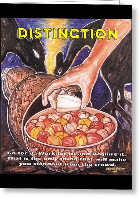 Distinction Greeting Card by Mbonu Emerem