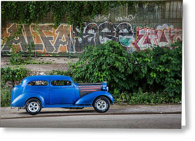American Grafitti Greeting Cards - Distinguishable Generations Greeting Card by Dale Kincaid