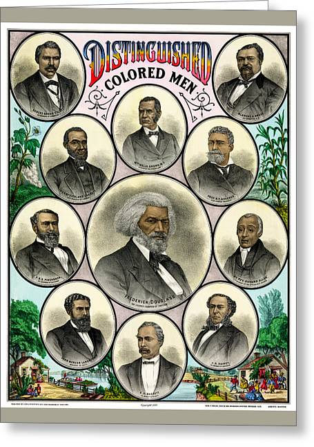 Distinguished African American Men Antique Print 1883 Greeting Card by Orchard Arts