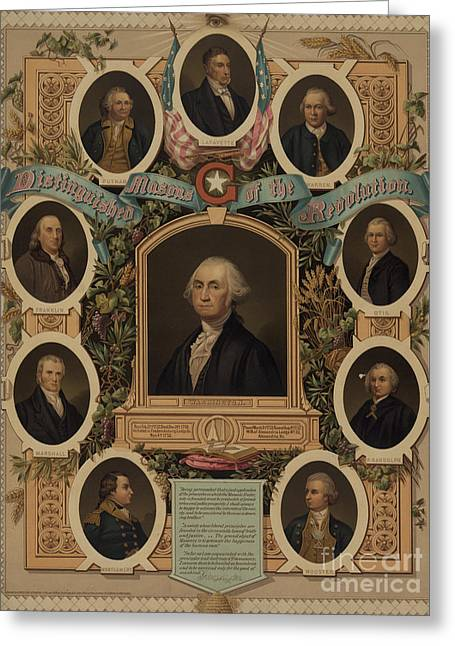 Distinguished Masons Of The Revolution Greeting Card